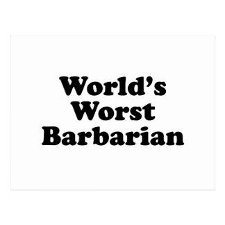 Världs värst barbar vykort