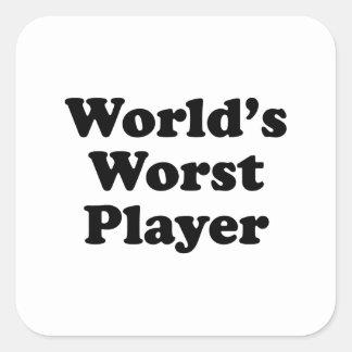 Världs värst spelare fyrkantigt klistermärke