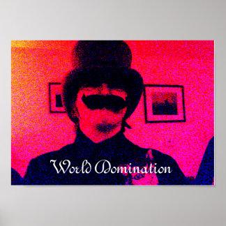 Världsdominansaffisch Poster