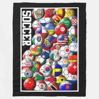 Världsfotbollbollar Fleecefilt