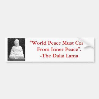 Världsfred måste komma från inre Peace. Bildekal