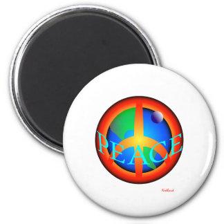 VÄRLDSFRED två Magnet Rund 5.7 Cm