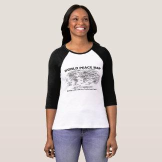 Världsfredkarta Tee Shirt