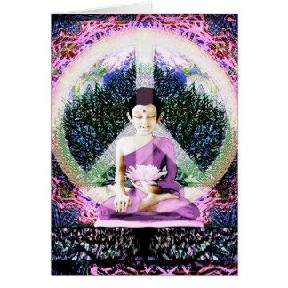 Världsfredmeditation och böner hälsningskort
