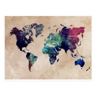 världskarta 10 vykort