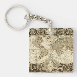 Världskarta 1708 av Jean Baptiste Nolin