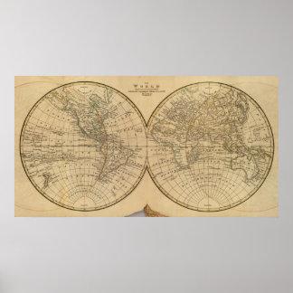 Världskarta 2 poster