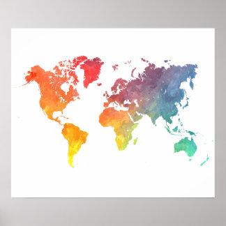 världskarta 5 poster