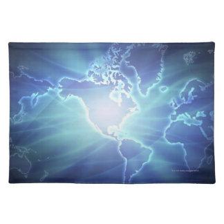 Världskarta 6 bordstablett