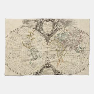 Världskarta 8 kökshandduk