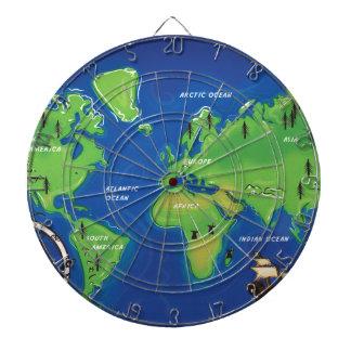 Världskarta Darttavla