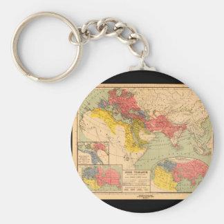Världskarta från forntid 1_Maps av forntid Rund Nyckelring