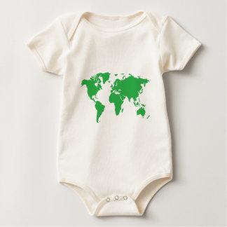 Världskarta Krypdräkt
