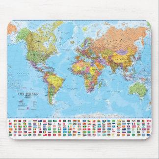 Världskarta Mousepad/Mousemat Musmatta