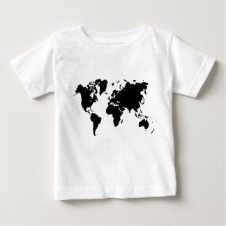 Världskarta - svart tee