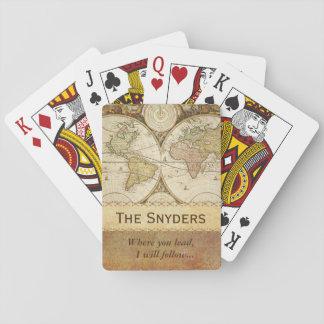 """Världskarta """"var du leder… """", casinokort"""