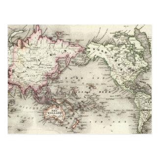 Världskarta Vykort