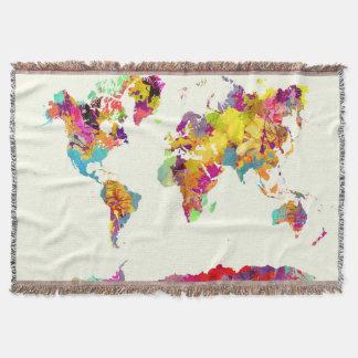 världskartafärger mysfilt