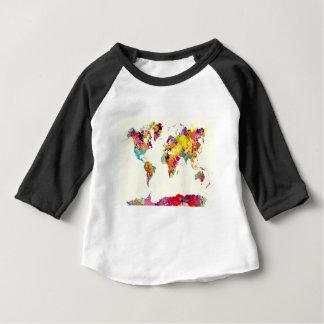 världskartafärger tee shirt