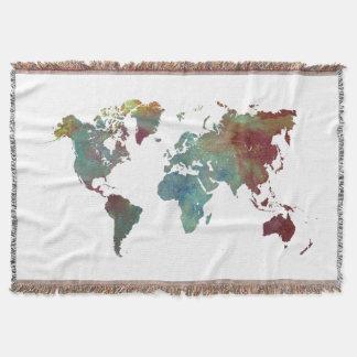 världskartafilt filt