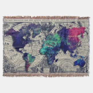 världskartafilt mysfilt