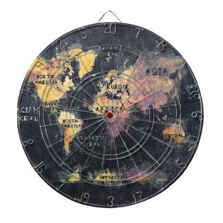 världskartaHAV och kontinentar Darttavla