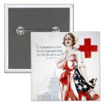 Världskrig för amerikanRöda korvintage som jag pos Standard Kanpp Fyrkantig 5.1 Cm
