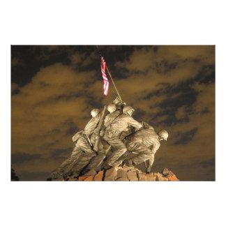 Världskriget II Iwo Jima minnes- Arlington VA Fototryck