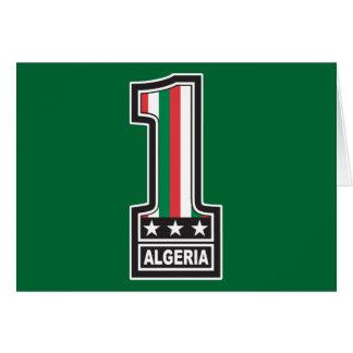 Världsmästare Algeriet Hälsningskort