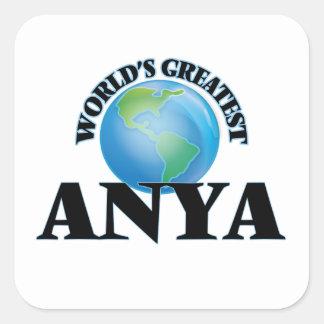 Världsmästare Anya Fyrkantigt Klistermärke