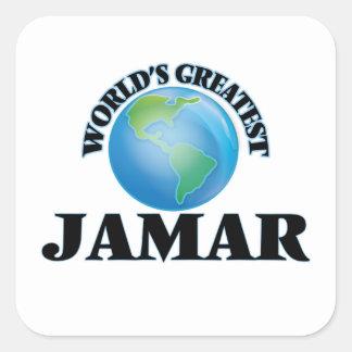 Världsmästare Jamar Fyrkantiga Klistermärken