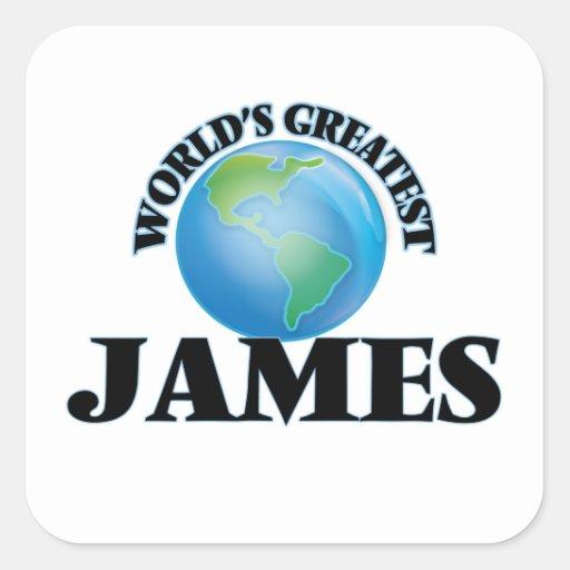 Världsmästare James Fyrkantigt Klistermärke