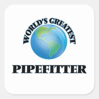 Världsmästare Pipefitter Fyrkantigt Klistermärke