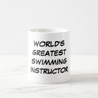 """""""Världsmästare som simmar instruktör"""" mugg"""
