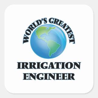 Världsmästarebevattningingenjör Fyrkantigt Klistermärke