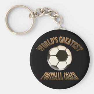 Världsmästarefotbolllagledare Rund Nyckelring