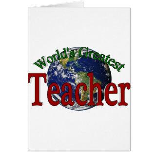 Världsmästarelärare Hälsningskort