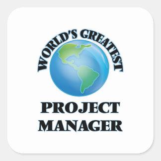 Världsmästaren projekterar chefen fyrkantigt klistermärke