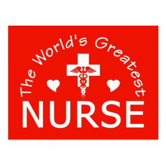 Världsmästaresjuksköterskavykortet, skräddarsy vykort