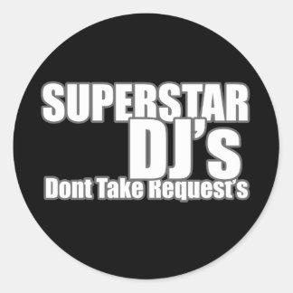 Världsstjärna DJ Runt Klistermärke