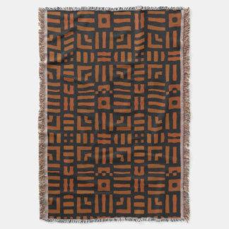 Varm afrikansk geometrisk stam- design mysfilt