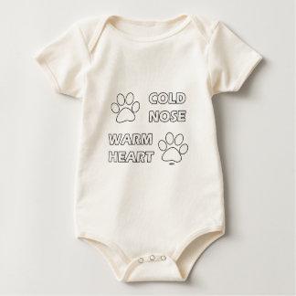 Varm hjärta för kall näsa body för baby