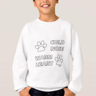 Varm hjärta för kall näsa tröja