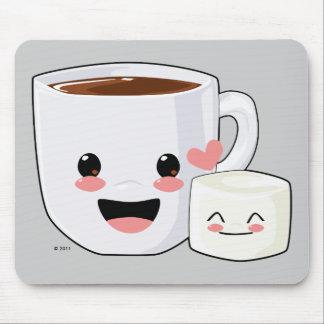 Varm kakao och Marshmallow Mousepad Mus Mattor
