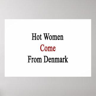 Varm kvinnakom från Danmark Poster