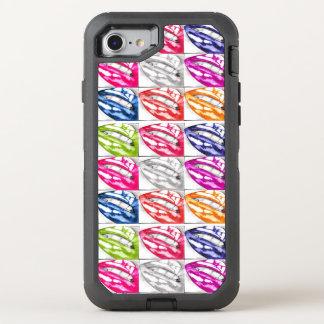 Varm läpparpopkonst OtterBox defender iPhone 7 skal