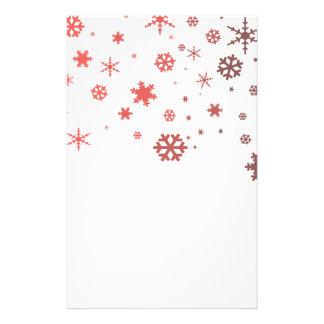 Varm snö brevpapper