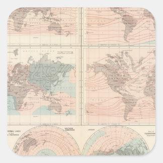 Värma över jordklotet fyrkantigt klistermärke