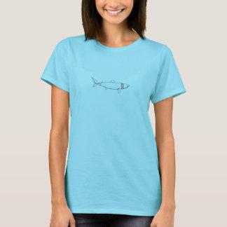 Värma sig hajlogotypen (fodra konst), tee shirt