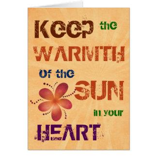 Värme av soltillfällen hälsningskort